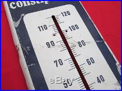 VINTAGE Ex-Lax thermometer metal sign yellow blue white man cave advertise sign