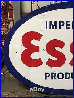 VinTage ESSO IMPERIAL PRODUCTS Sign Gas STaTioN ORIGINAL Tin Tacker OLD Gas Oil