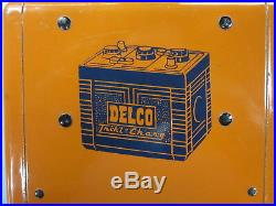 Vintage 1940 1950 Original AC Delco Dealership Battery Charger Sign GM Wall Art