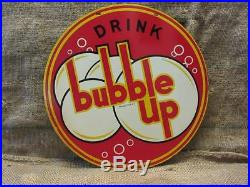 Vintage 1940 Bubble Up Sign Antique Old Store Display Sign Soda Signs 9784