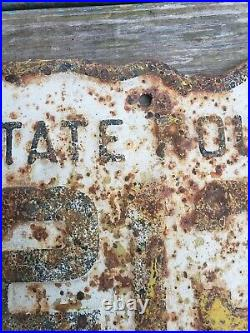 Vintage 1940's Ohio State Route 213 Embossed Metal Gas Oil Highway Road Sign