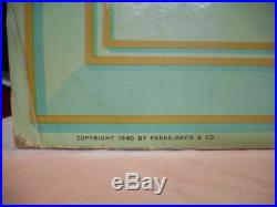 Vintage 1940's Traveling Drug Store Pharmacy Store Display Sign 40x 37 RARE