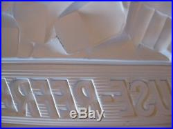 Vintage, 1950's-60's Coca-Cola, Ice Cold Pause-Refresh 3-D Vacuform Plastic Sign
