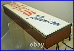 Vintage 1960s Era RCA Victor Television Lighted Hanging Advertising Sign CLEAN