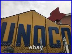 Vintage 1964 LARGE SUNOCO Illuminated Rotating Sign Two Sided Totally Awesome