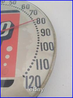 Vintage 7up Glass Thermometer Nothing does it like 7up! Sign Seven Up Original