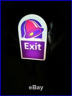 Vintage 90s Taco Bell Exit Sign (working Light)