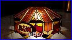 Vintage A&W Root Beer Chandelier Light Hanging Lamp Shade AW ANW Sign Bar Booth