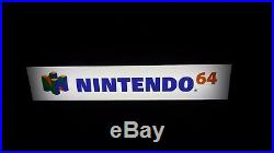 Vintage AUTHENTIC! Retail NINTENDO 64 Lighted DISPLAY SIGN N64 Video Games SNES