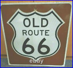 Vintage Authentic Large Wooden OLD ROUTE 66 HIGHWAY SIGN 24 x 24 Vega Texas