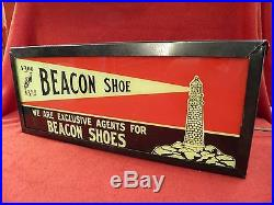 Vintage Beacon Shoe Light Up Flashing Sign Super Rare Wow! Original Real Sign