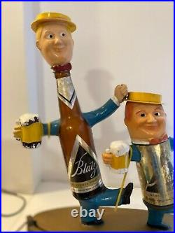 Vintage Blatz Beer Lamp Point of Purchase Figurine 1950s Advertising Light Sign