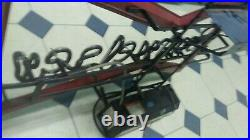 Vintage Bud Budweiser Beer Bow Tie Neon Light Bar Advertising Tin Glass Sign