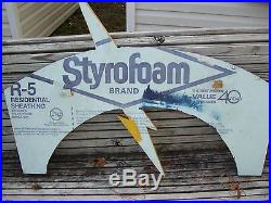 Vintage Captain Video Sign store display advertising sign 41''X 32''X 2'