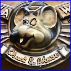 Vintage Chuck E Cheese Sign Wall Art Man Cave Decor Advertisement Americana