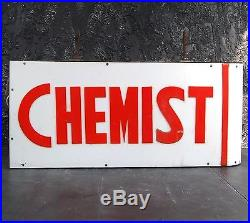 Vintage Double Sided Cast Iron Chemist Light Box Sign Decorative Advertising