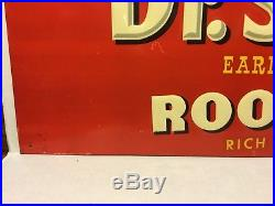 Vintage Dr. Swetts Root Beer Embossed Tin Sign