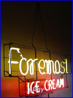 Vintage Foremost Ice Cream Neon Display Sign
