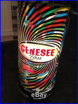 Vintage Genesee Beer Heat Motion Spinning Lamp Light Rotor Advertisement Sign