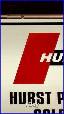 Vintage HURST SHIFTERS Sign. Chevrolet, Ford, Pontiac, Plymouth, dodge, AMC