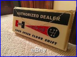 Vintage Hurst Shifters Sign, Chevrolet, Corvette, Plymouth, Dodge, Ford