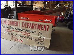 Vintage John Bean snap on tool Service Sign Station 1940s 50s 60s original