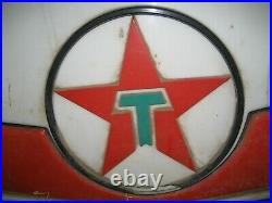Vintage Large 1960, S Texaco Lighted Sign and original Pole