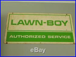 Vintage Lawn Boy Iron Horse Authorized Dealer Clock Double Sided Sign Misc Lot