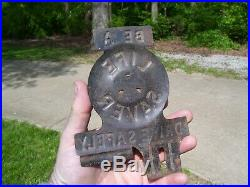 Vintage License Plate Topper Be A Life Saver Drive Safely gm ford chevy dodge