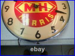 Vintage Lighted Massey Harris Tractor Company 15 Advertising Clock