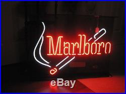 Vintage MARLBORO Cigarette Neon Advertising Sign LARGE 28 x 20.5