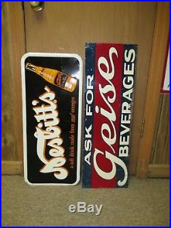 Vintage MASON'S ROOT BEER 1940's Bottle Tin Soda Non Porcelain Thermometer Sign
