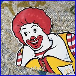 Vintage Mcdonald's Ronald Happy Meal Store Display Wall Sign