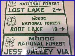 Vintage Modoc National Forest Signs Excellent Condition