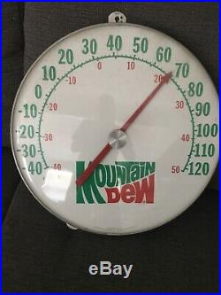 Vintage Mountain Dew Sign Thermometer