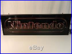 Vintage Nintendo NES Lighted Double Sided Sign Store Display Superbrite Series