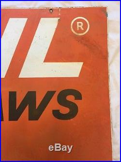 Vintage ORIGINAL STIHL Chain Saw metal Dealer signs Double Sided 36x28