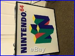Vintage Official Retail Store Light Up Sign Nintendo 64 N64 Collectible Rare