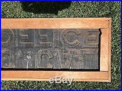 Vintage Original El Toro California (Lake Forest) Post Office Sign Embossed Tin