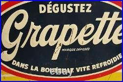 Vintage Original Grapette Advertising Sign 27x19 Thirsty Or Not In French