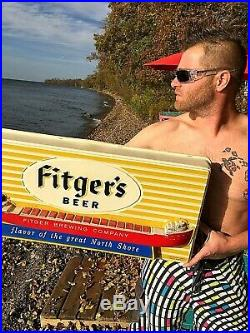 Vintage RARE Fitgers Beer Ore Boat Light Sign Duluth MN GREAT ONE