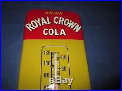 Vintage RC ROYAL CROWN COLA Thermometer Metal Soda Sign WOW! Super CleanLQQK