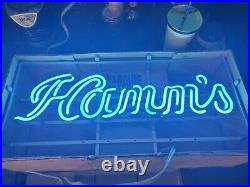 Vintage Rare Hamm's Beer Advertising Light Up Sign 1960's neon new in box bar