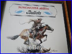 Vintage Rare Winchester Western Bullets Advertising Sign/Display