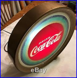 Vintage Retro Price Brothers DRINK COCA COLA Round Lighted Sign