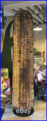 Vintage Roadside Farmers Stand Painted Tin Giant Corn Sign Upstate NY Can Ship
