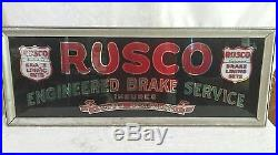 Vintage Rusco Brake Light Up Advertising Display Sign Country Store