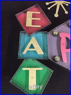 Vintage Style Marquee Sign Art EAT PUSSY Lights HUGE - 42 x 32