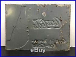 Vintage Very Rare Coca Cola Embossed Tin Sign 1930