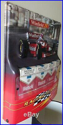 Vintage WINFIELD 25's Red F1 RACING TEAM 1998 Cigarette Advertising Sign Display